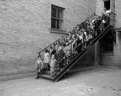 Alexander School, new fire escape