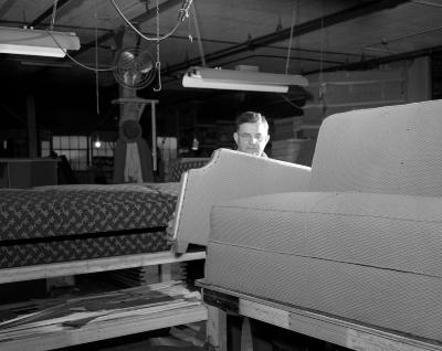 American Auto Felt Company, working on couch