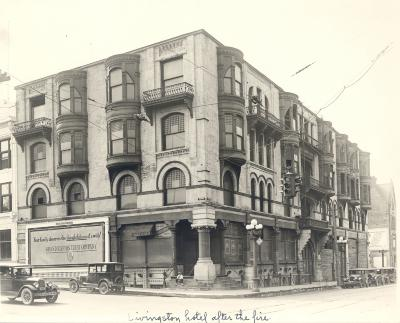 Livingston Hotel (after fire).