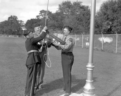 American Legion, Flag raising--Valley Field