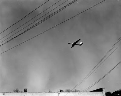 B-36, flying over Grand Rapids