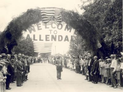 Opening of Lake Michigan Boulevard at Allendale, Michigan