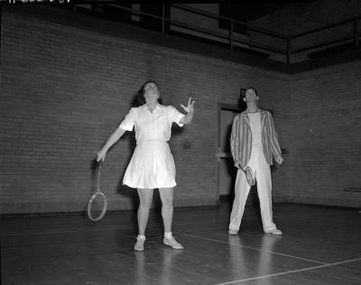 Badminton players, East Grand Rapids High School