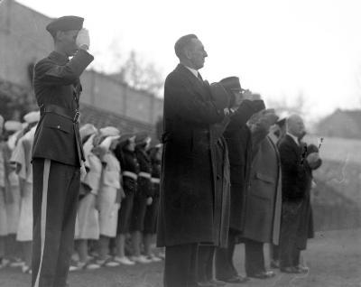 Baker, John, flag pole dedication