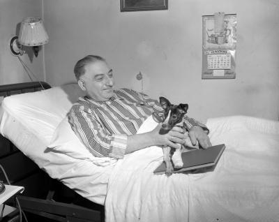 Badolenti, Thomas, dog in bed