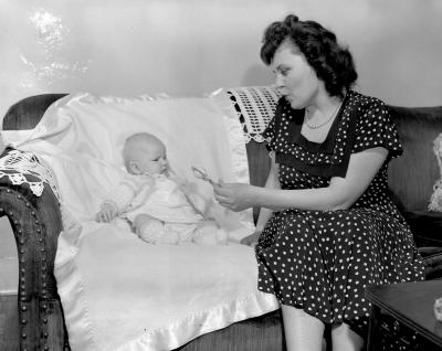Balder, Mrs. A. and baby