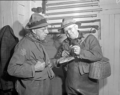 Ballard, Dr., Two Doctors Preparing for Trout Fishing