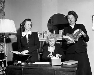 Baraga Library, President and Two Members