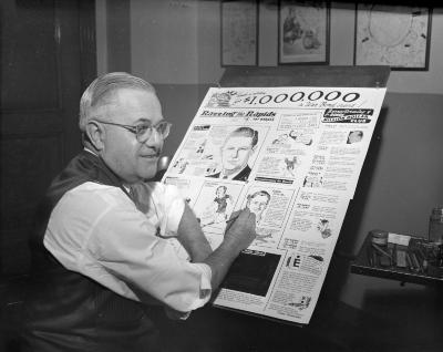 Barnes, Ray, in his office
