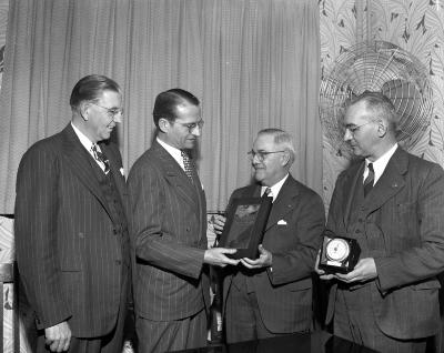 Barnes, Ray, Receiving safety trophy