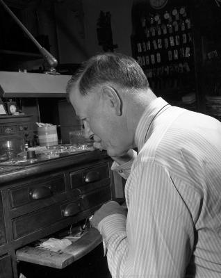 Barnes, T.F., clock repair business