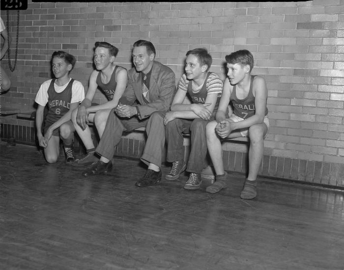 Basketball, Herald carriers and Heinie Martin