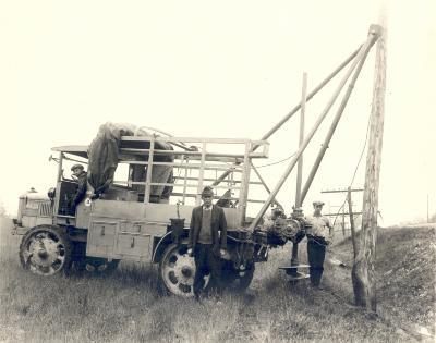 Telephone Pole Setting Truck