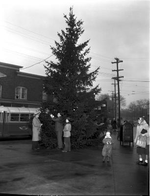 Christmas tree, Eastown neighborhood