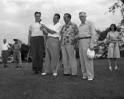 Bob Hope playing golf at Blythefield Country Club