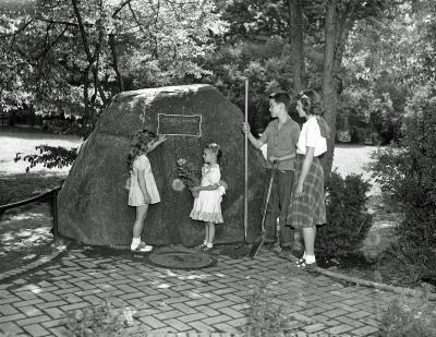 Memorial Rock at Hall School