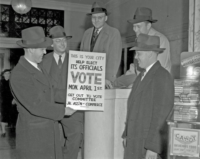 """Junior Chamber of Commerce, """"Get Out the Vote"""" committee"""