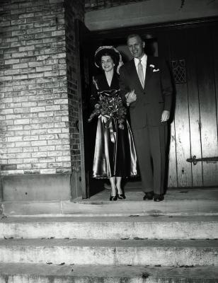 Betty and Gerald R. Ford wedding