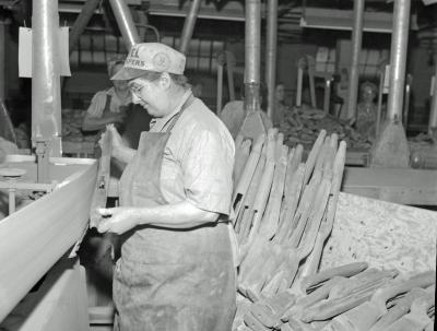 Robert W. Irwin Company, lady at machine