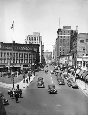 Shriners Parade, view of downtown