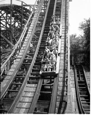 Roller Coaster at Ramona Park
