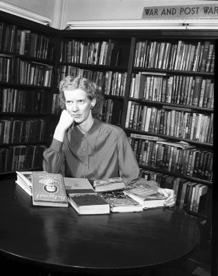 "Alberta Massingill, ""best sellers"" at Library"
