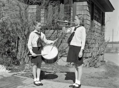 Ames children, campfire uniforms