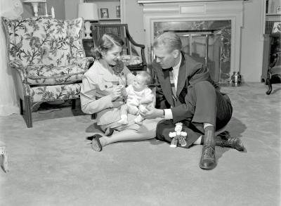 Jerry and Betty Ford with baby