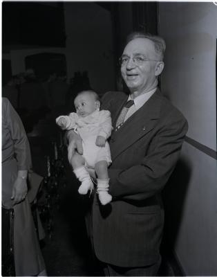 Abraham's baby christening