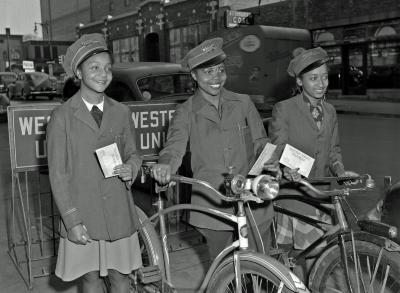 Western Union delivery girls