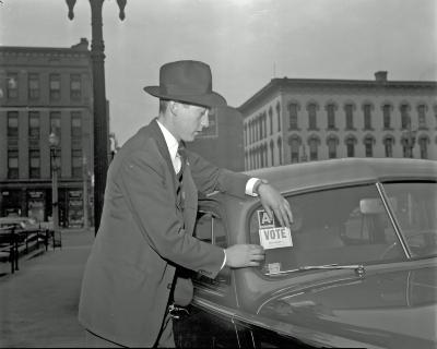 Voting, man at Herald