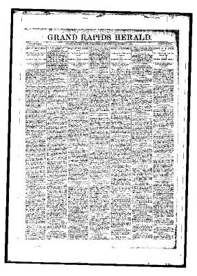 Issue of Grand Rapids Herald for Wednesday, October 25, 1893