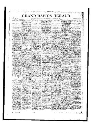 Issue of Grand Rapids Herald for Monday, October 23, 1893
