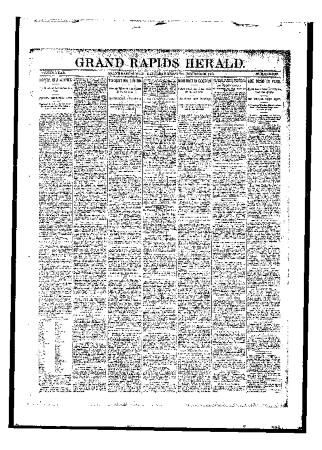 Issue of Grand Rapids Herald for Saturday, October 28, 1893
