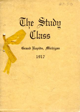 Grand Rapids Study Club Yearbook for 1917