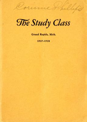 Grand Rapids Study Club Yearbook for 1927-1928