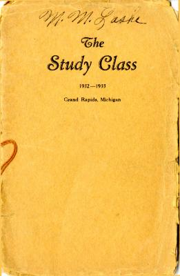 Grand Rapids Study Club Yearbook for 1932-1933