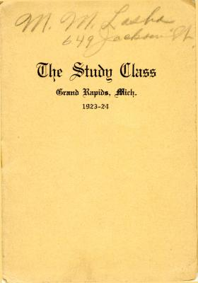 Grand Rapids Study Club Yearbook for 1923-1924