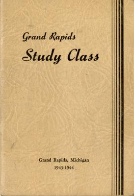 Grand Rapids Study Club Yearbook for 1943-1944