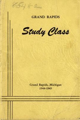 Grand Rapids Study Club Yearbook for 1944-1945