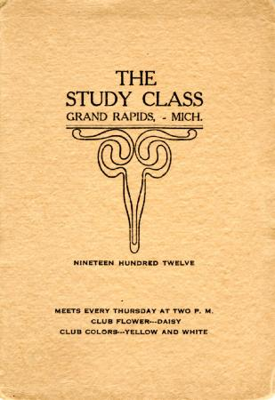 Grand Rapids Study Club Yearbook for 1912