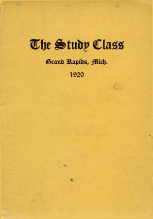 Grand Rapids Study Club Yearbook for 1920
