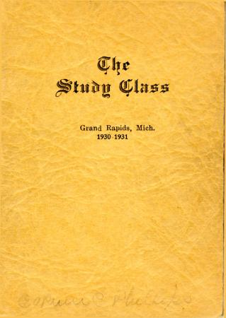 Grand Rapids Study Club Yearbook for 1930-1931