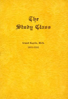 Grand Rapids Study Club Yearbook for 1931-1932