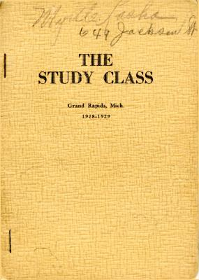 Grand Rapids Study Club Yearbook for 1928-1929