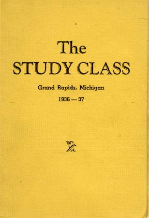 Grand Rapids Study Club Yearbook for 1936-1937