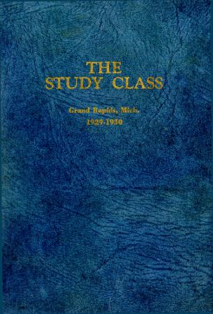 Grand Rapids Study Club Yearbook for 1929-1930