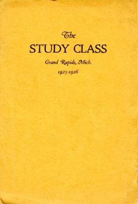 Grand Rapids Study Club Yearbook for 1925-1926