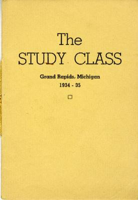 Grand Rapids Study Club Yearbook for 1934-1935