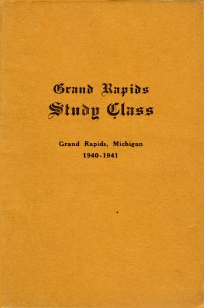 Grand Rapids Study Club Yearbook for 1940-1941
